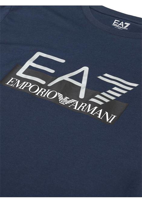 T-SHIRT IN COTONE ELASTICIZZATO E.A. 7 | T-shirt | 6GPT81PJM9Z1554NAVY