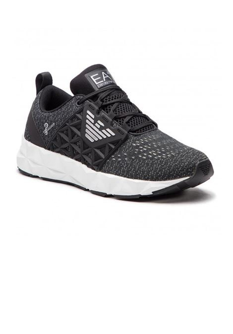 SNEAKERS BLACK SILVER E.A. 7 | Sneakers | X8X017XK059N629BLACKSILVER