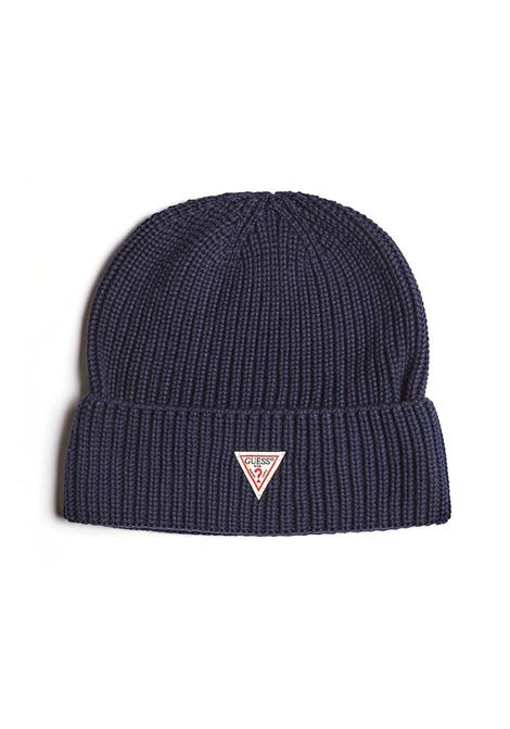 CAPPELLO BEANIE TAG 7GG GUESS | Cappello | M94Z56Z2HH0G720BLUENAVY