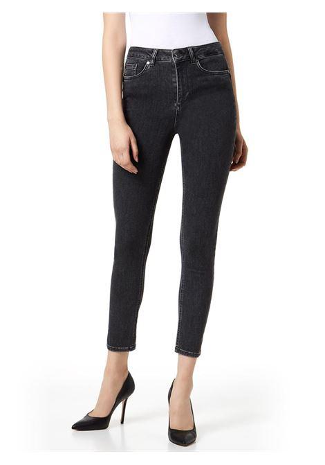 JEANS SKINNY CON VITA SUPER ALTA LIU JO BLUE DENIM | Jeans | U69055D436387203DENGREY