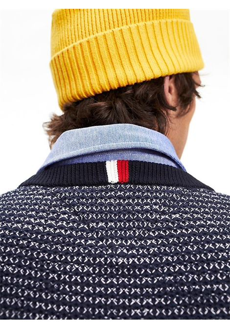 PULLOVER IN COTONE FIAMMATO A NIDO D'APE TOMMY HILFIGER | Maglia | MW0MW11687HONEYCOMBCJMSKYCAPTAIN