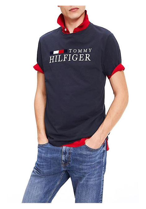 T-SHIRT IN COTONE BIOLOGICO TOMMY HILFIGER | T-shirt | MW0MW11795RWBTOMMYCJMSKYCAPTAIN