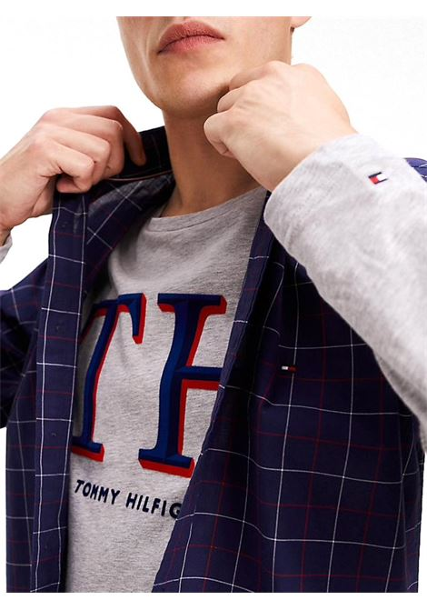 CAMICIA WINDOWPANE TOMMY HILFIGER | Camicia | MW0MW11896SLIMCLASSIC0YUMARITIMEBLUEBWHAUTERED