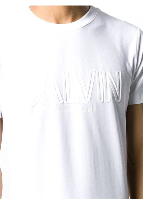T-SHIRT FLOCK CALVIN ELASTICIZZATO CALVIN KLEIN JEANS | T-shirt | J30J314095YAFBRIGHTWHITE