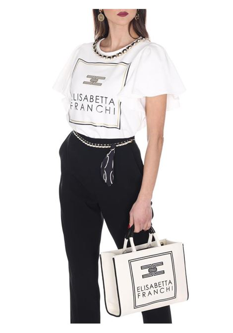 PANTALONE A SIGARETTA ELISABETTA FRANCHI | Pantalone | PA05001E2110NERO