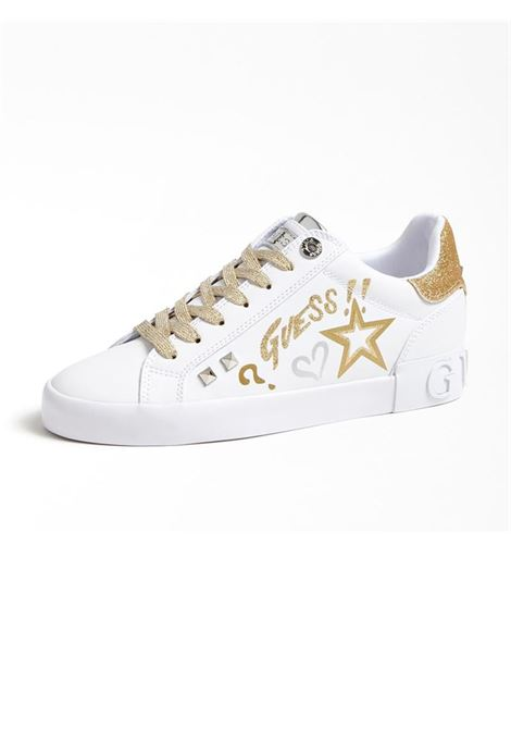 SNEAKERS PRYDE ACTIVE GUESS | Sneakers | FL5PRYELE12WHIGOWHITE&GOLD