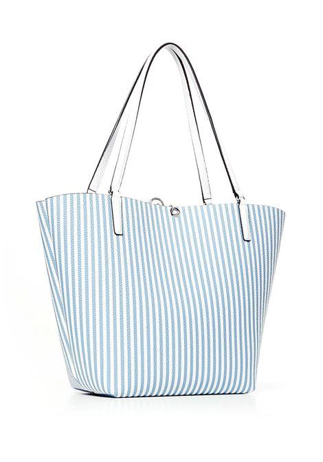 SHOPPING BAG ALBY TOGGLE GUESS | Borsa | HWSP7455230STWSTRIPEWHITE
