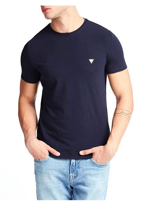T-SHIRT GIROCOLLO GUESS | T-shirt | M01I24J1300G720BLEUNAVY