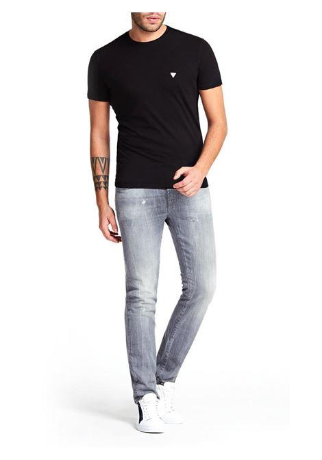 T-SHIRT GIROCOLLO GUESS | T-shirt | M01I24J1300JBLKBLACK