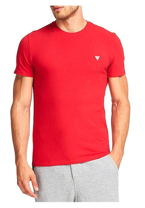 T-SHIRT GIROCOLLO GUESS | T-shirt | M01I24J1300TLRDTULIPRED