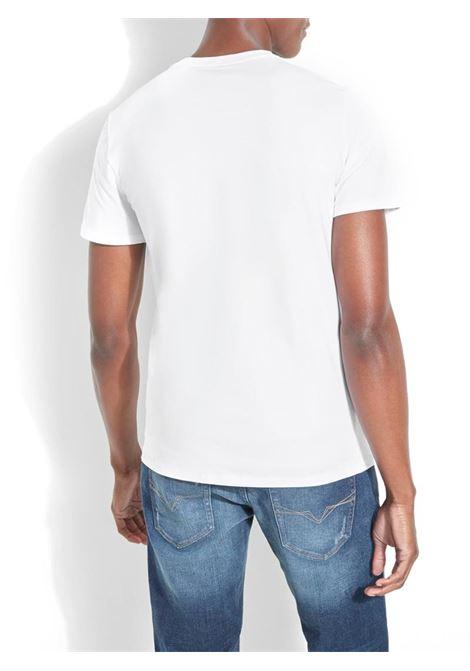T-SHIRT CON LOGO FRONTALE GUESS | T-shirt | M01I54J1300TWHTTRUEWHITE