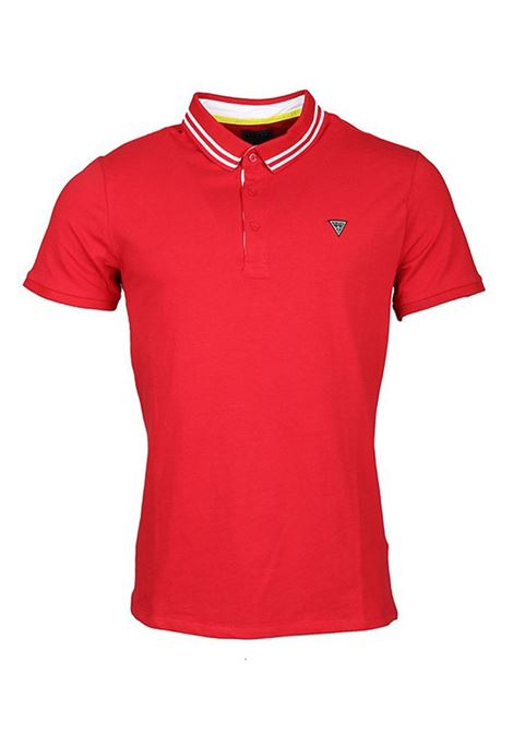 POLO AMIAS SS GUESS | Polo | M01P45J1300TLRDTULIPRED