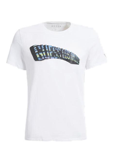T-SHIRT CON LOGO FRONTALE GUESS | T-shirt | M0GI63J1300TWHTTRUEWHITE