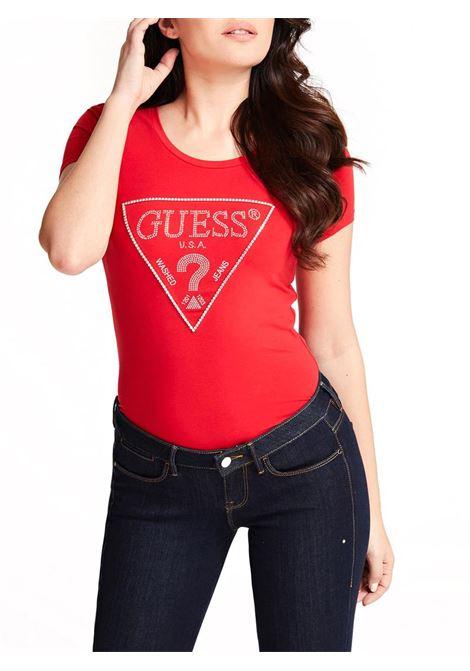 T-SHIRT TRIANGOLO LOGO GUESS | T-shirt | W01I90J1300G6U2CRAVOS