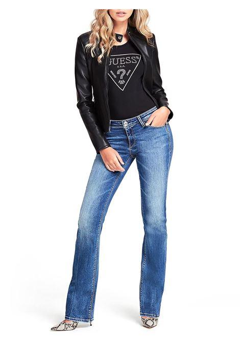 T-SHIRT TRIANGOLO LOGO GUESS | T-shirt | W01I90J1300JBLKBLACK