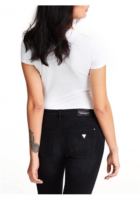 T-SHIRT TRIANGOLO LOGO GUESS | T-shirt | W01I90J1300TWHTBLANCPUR