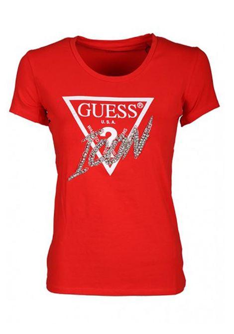 T-SHIRT CON LOGO ICON GUESS | T-shirt | W0GI08J1300FICRFIRECRACKER