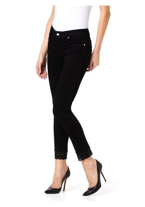 JEANS SKINNY CON PIZZO LIU JO BLUE DENIM | Jeans | UA0001D418887177BLACKRIBBONWASH