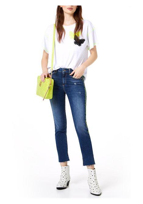 JEANS B.UP IDEAL REG.W JEANS LIU JO BLUE DENIM | Jeans | UA0001D443678012DENBLUEKISSWASH