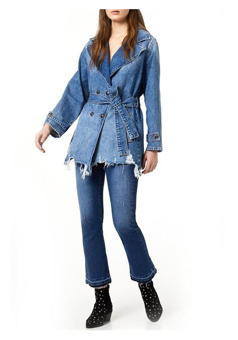 JEANS FLARE CON ORLI UNFINISHED LIU JO BLUE DENIM | Jeans | UA0022D444878006DENBLUECLEARWASH