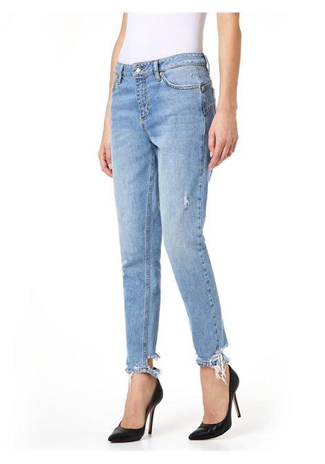 JEANS SLIM A VITA ALTA LIU JO BLUE DENIM | Jeans | UA0034D444178019DENBLUEBELTWASH