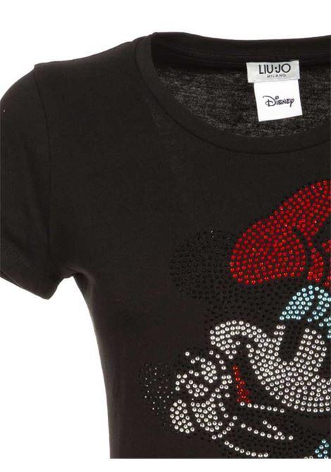 T-SHIRT DISNEY CON STRASS LIU JO JEANS FASHION | T-shirt | FA0387J5904T9052NEROHOTFIX