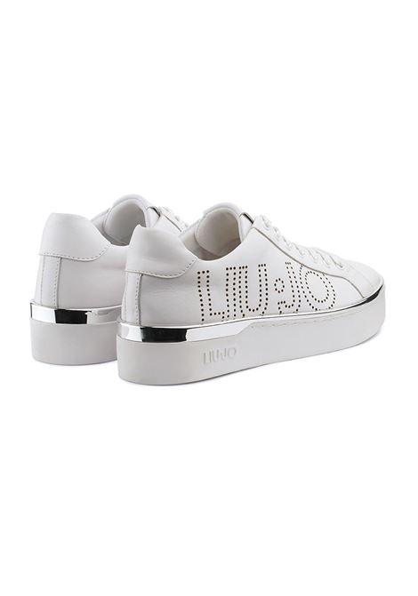 SNEAKERS CON LOGO TRAFORATO LIU JO SHOES | Sneakers | BA0027EX01401111WHITE