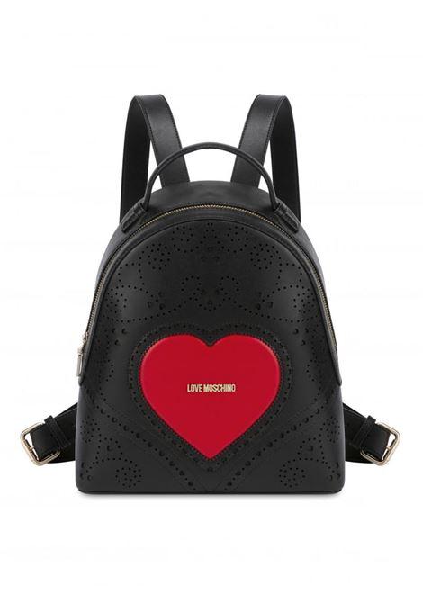 ZAINO HEART EMBROIDERY LOVE MOSCHINO | Borsa | JC4218PP0AKC100ANEROROSSO