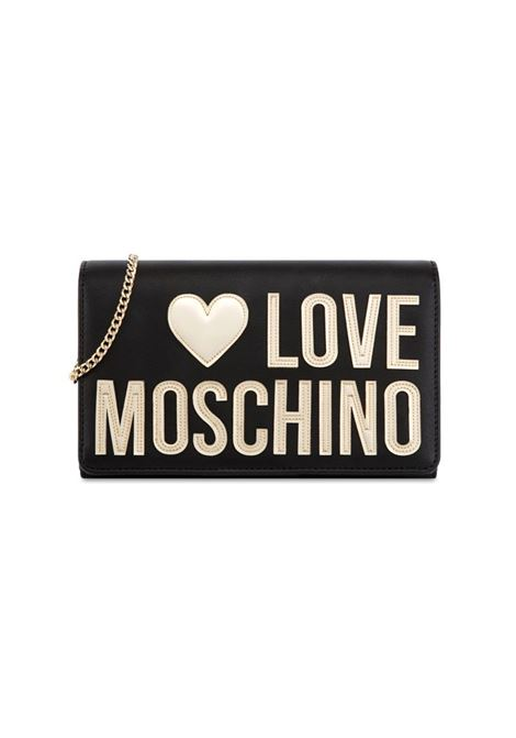 BORSA A TRACOLLA CON LOGO LOVE MOSCHINO | Borsa | JC4248PP0AKI100ANEROPLATINO