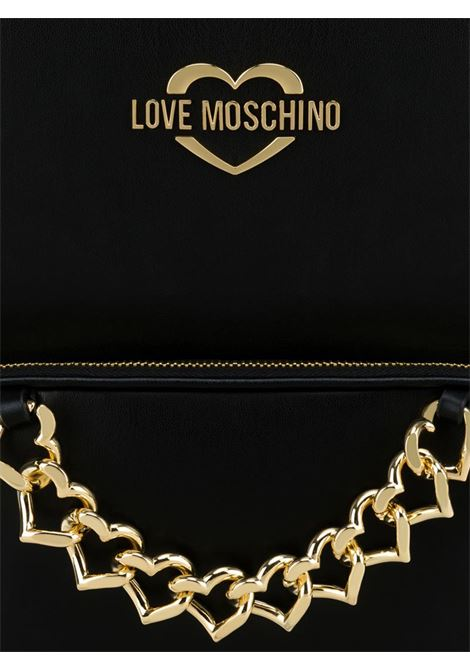 ZAINO CHAIN HEART LOVE MOSCHINO | Borsa | JC4258PP0AKC0000NERO