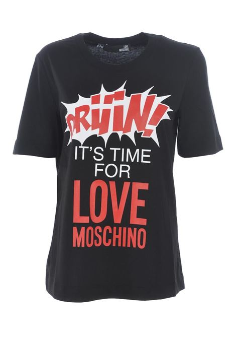 T-SHIRT DRIIIN LOVE MOSCHINO | T-shirt | W4F152EM3876C74BLACK
