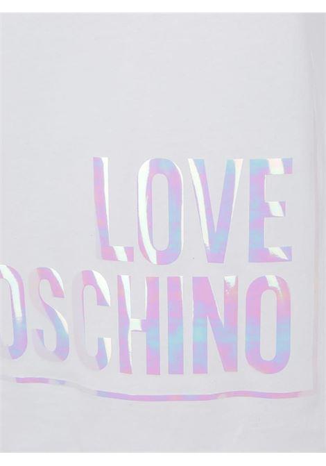 T-SHIRT CON MAXI LOGO LOVE MOSCHINO | T-shirt | W4F152FM4083A00OPTICALWHITE