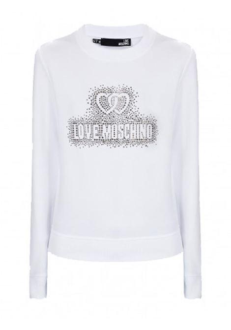 T-SHIRT LOGO CORE LOVE MOSCHINO   Felpa   W630215E2139A00OPTICALWHITE