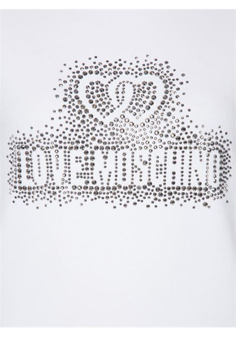 T-SHIRT LOGO CORE LOVE MOSCHINO | Felpa | W630215E2139A00OPTICALWHITE