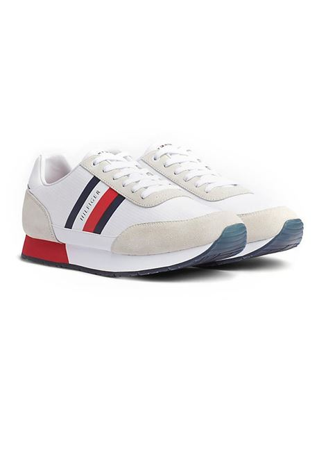 SNEAKERS CORPORATE MIX DI TEXTURE TOMMY HILFIGER | Sneakers | FM0FM02601YBSWHITE
