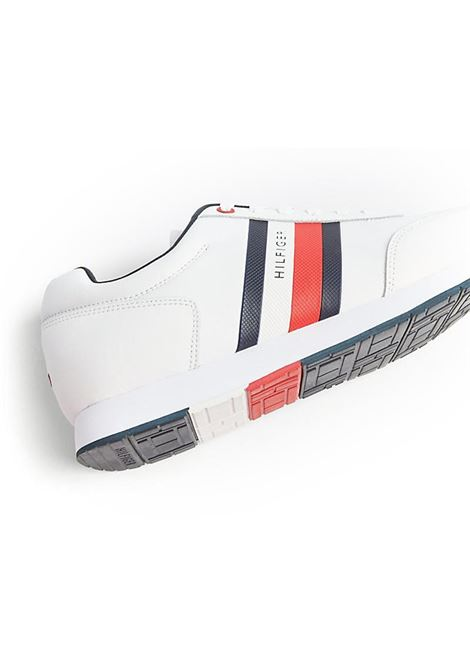 SNEAKERS CORPORATE LEATHER FLAG RUNNER TOMMY HILFIGER | Sneakers | FM0FM02651YBSWHITE