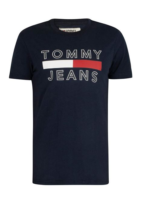 T-SHIRT IN COTONE BIOLOGICO CON LOGO TOMMY JEANS | T-shirt | DM0DM07430CBKBLACKIRIS