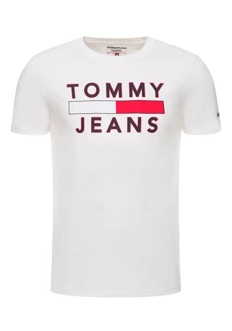 T-SHIRT IN COTONE BIOLOGICO CON LOGO TOMMY JEANS | T-shirt | DM0DM07430YA2CLASSICWHITE
