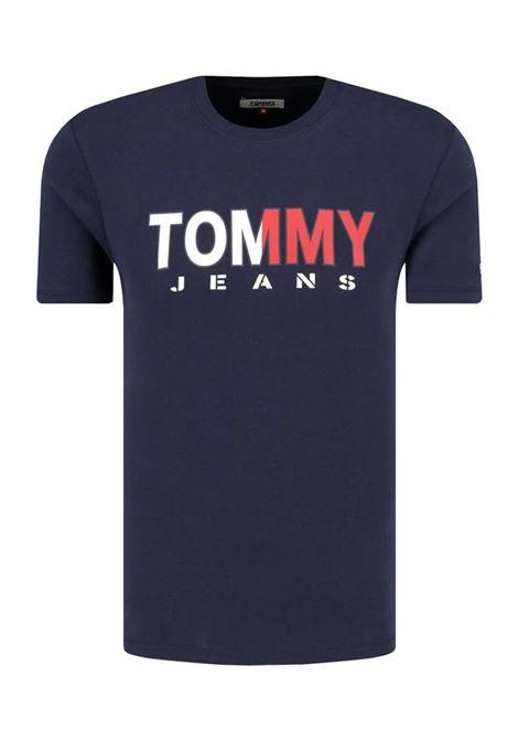 T-SHIRT JM TOMMY TOMMY JEANS | T-shirt | DM0DM07440CBKBLACKIRIS