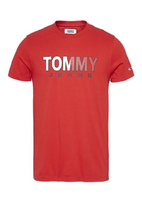 T-SHIRT JM TOMMY TOMMY JEANS | T-shirt | DM0DM07440XA9RACINGRED