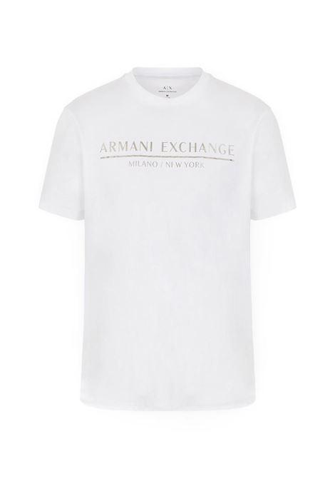 T-SHIRT CON LOGO AX ARMANI EXCHANGE | T-shirt | 6HZTLIZJ9AZ1100WHITE