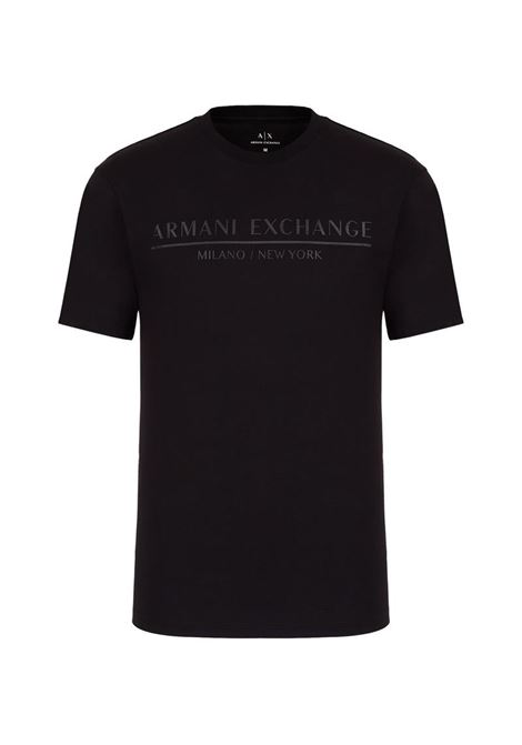 T-SHIRT CON LOGO AX ARMANI EXCHANGE | T-shirt | 6HZTLIZJ9AZ1200BLACK