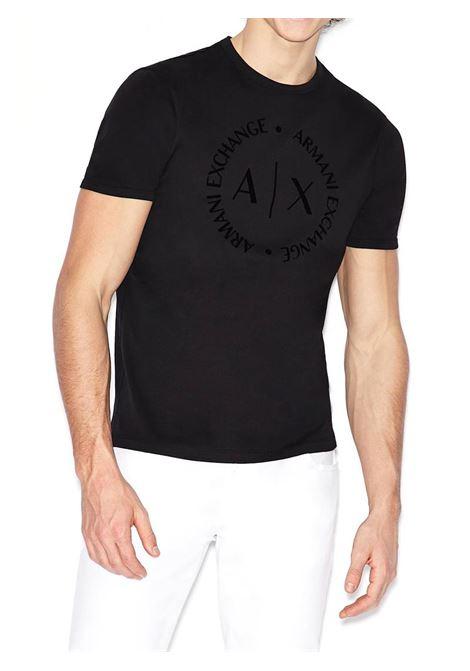 T-SHIRT CON LOGO TONO SU TONO AX ARMANI EXCHANGE | T-shirt | 8NZTCDZ8H4Z1200BLACK