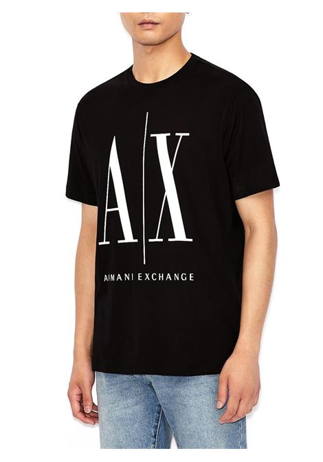 T-SHIRT GIROCOLLO REGULAR FIT AX ARMANI EXCHANGE | T-shirt | 8NZTPAZJH4Z1200BLACK