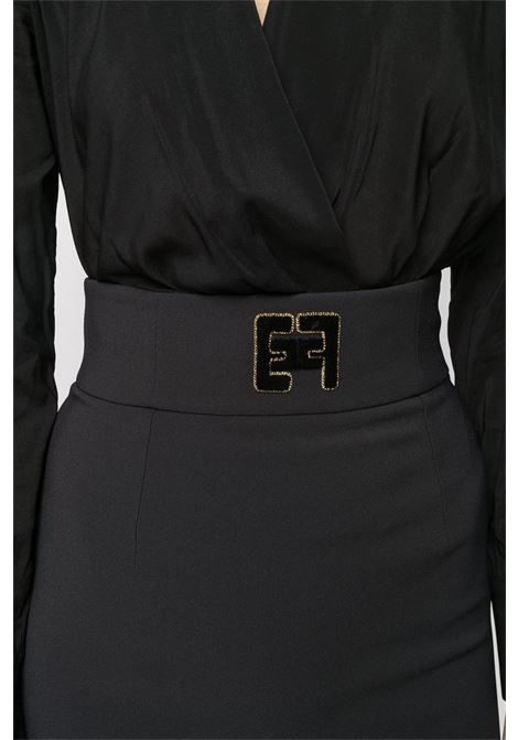 GONNA LONGUETTE CON LOGO ELISABETTA FRANCHI | Gonna | GO42406E2110NERO