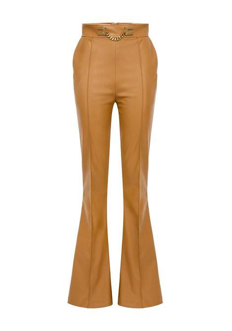 PANTALONE IN ECOPELLE ELISABETTA FRANCHI | Pantalone | PA35506E2368MOU