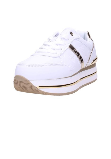 RUNNER DAFNE SIMIL PELLE  dafne active lady leather lik GUESS | Sneakers | FL7DFEFAL12WHITE