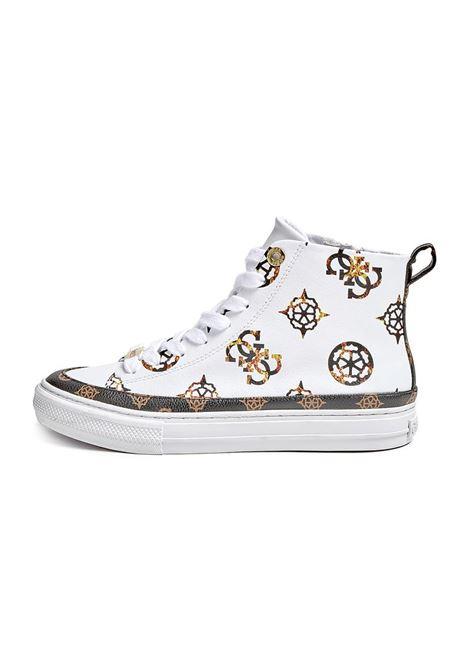 SNEAKER ALTA LEKSAN 4G LOGO PEONY GUESS | Sneakers | FL8LEKFAL12WHITE