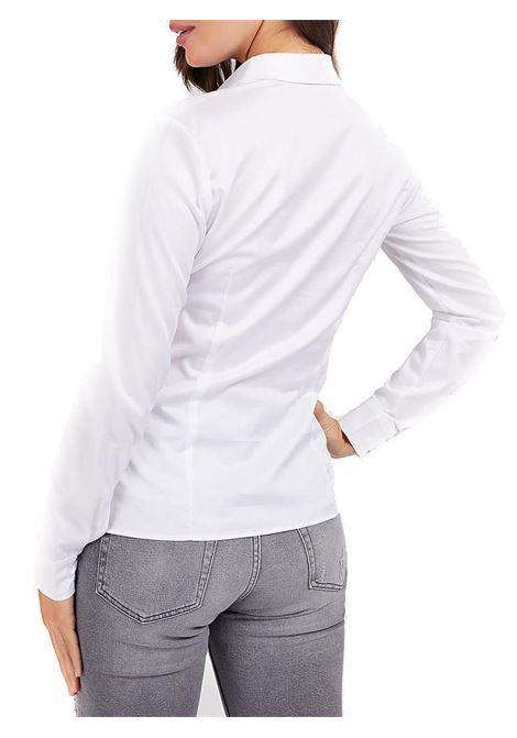 CAMICIA SLIM COTONE STRETCH GUESS | Camicia | W0BH41WAF10A000TRUEWHITE