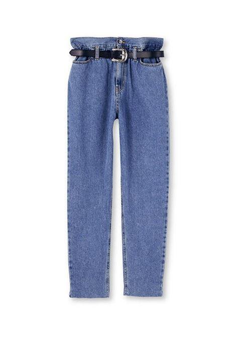 JEANS MOM FIT CON CINTURA LIU JO BLUE DENIM | Jeans | UF0103D454978104DENBLUEVOGAR